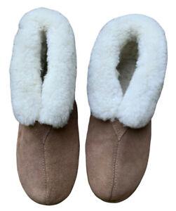 CLOUD NINE SHEEPSKIN BOOTIE SLIPPERS CHESTNUT sz L10