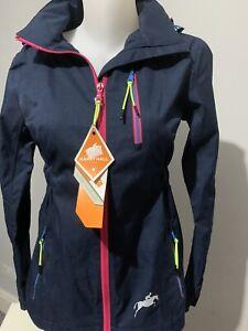 Harry Hall Ladies Silkstone Waterproof Jacket Navy Size 8 BNWT