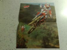 Rare Vintage 80's POSTER:Motocross motorcycle+British Aerospace Harrier aircraft