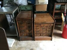 Vintage Oak File Cabinet - Tambour door - Rare Small Size - Globe Wernicke