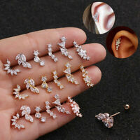 1Pc CZ Earring Tragus Cartilage Piercing Stud Earring Ear Ring Zirconia Jewelry