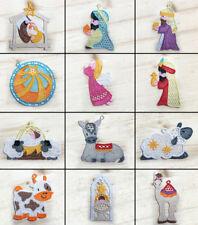 Nativity Machine Embroidered Lace Ornaments