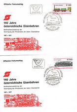 140 Jahre österreichische Eisenbahnen 1977 Lokomotive Sondermarken,Sonderstempel