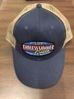 2017 Cruisin Endless Summer car show trucker hat blue and tan Ocean City MD