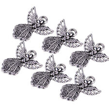 20x Retro Silver Plated Angel Pendant Charms for DIY Jewelry Crafts Accessories