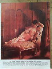 1962 women's peacock pink Warner's girdle bra garters vintage ad