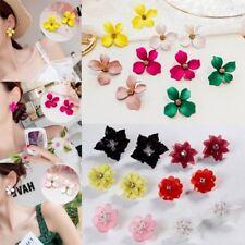 Fashion Women Jewellery Flower Pearl Crystal Rhinestone Tassel Ear Stud Earrings