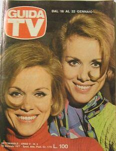 GUIDA TV 1977 N.3 GEMELLE KESSLER MILVA BARBRA STREISAND DE FILIPPO COCCIANTE