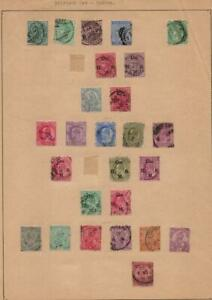 INDIA: Victoria-George V Examples - Ex-Old Time Collection - Album Page (41561)