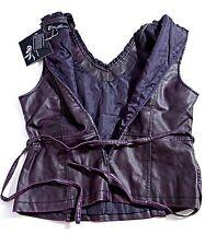 DOLLHOUSE Outerwear Womens VEST Plum Purple Color size Large 3/4 Zip L NWT NEW