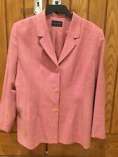 Alexon Pink Ladies Lightweight Jacket Coat UK Size 18