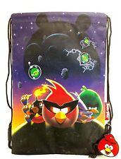 Angry Birds Space Drawstring Purple Bag