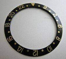 ROLEX  INSERT for GMT gold , two tone . ( BROWN  or BLACK DIAL )
