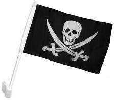 """12x18 Wholesale Lot 12 Calico Jack Rackham Pirate Skull Car Vehicle 12""""x18"""" Flag"""