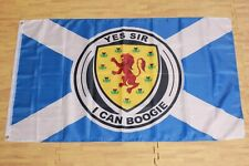 More details for yes sir i can boogie large 5x3 scotland saltire supporters flag football world