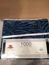 Zebra Print Full Size Sheet Sheets Set ( Blue )