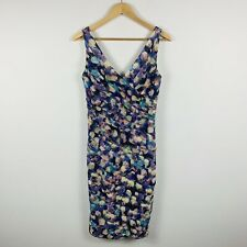 Anthea Crawford Womens Evening Sheath Dress Size 8 Multicoloured Sleeveless