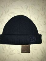Gucci  Size M - L Beanie Wool hat winter Blue Made in Italy