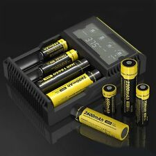 D4 LCD Battery Charger For AA/26650/18650/14500/18350/16340 US Plug #*