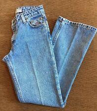 Harley Davidson Woman Jeans Size 0P Blue Jeans Straight Leg Medium Wash