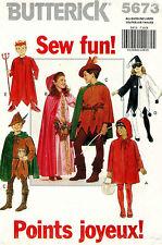 Butterick Children's Costume Pattern 5673 Size S-XL UNCUT