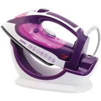 Cordless Steam Iron Vertical Ceramic Non-drip Non-stick Sole plate 2400w