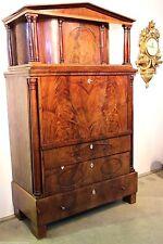 Rare antique BIEDERMEIER COLUMN SECRETAIRE DESK 1825 Empire fall front bureau