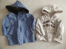 2 baby boys HOODIE JACKETS LOT kenneth cole calvin klein LOGO nice! 3-6 MONTHS