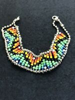 Native American Multicolor Beaded Vintage Bracelet