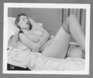 Sensual Beauty 1950`s  ORIGINAL silver gelatin, fiber base 4x5 photograph.