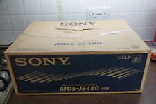 Sony MDS-JE480 MiniDisc Recording Deck. ATRAC Type-S. MD/LP. Boxed and complete.