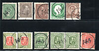 """Iceland - (7) Singles+(2) Pairs all with Clear """"145"""" Numeral Cancels-Lot 1220269"""