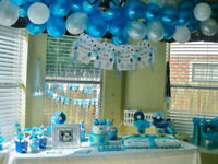 Blue Theme Baby Shower Foil Balloons New Born baby Banner Mum to be Sash Baloons