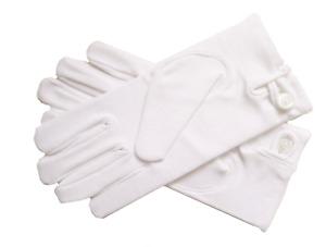 Masonic Freemasonry Men's (Large) Ceremonial White Gloves