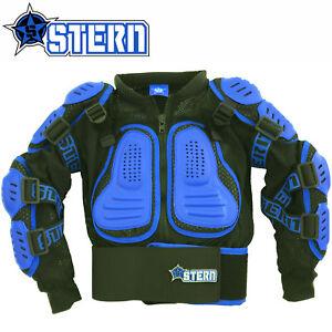 KIDS STERN MOTOCROSS BODY ARMOUR PROTECTION BLUE bionic suit jacket quad bike