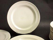 "(8) Oneida Espree 12"" China Dinner Charger Plates Cream White Decorative Edge"
