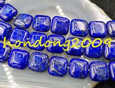 """Natural 14x14MM  blue Lapis Lazuli Gemstone Loose BEADS 15""""L"""