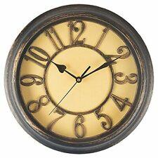 Benail 12 Inch Wall Clock Bedroom Wall Clock Retro Non Ticking Silent Quartz De