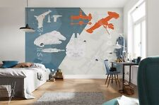 Giant wallpaper 368x254cm STAR WARS Technical Plan for childrens room wall mural