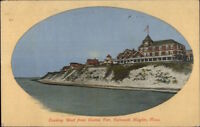 Falmouth Heights Cape Cod MA West From Casino Pier c1910 Postcard