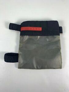 PRADA Black Nylon Small Ankle Leg Pouch Mini Bag Travel Unisex