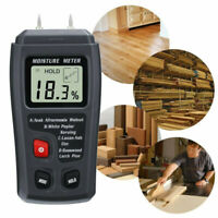 9% Holzfeuchtemessgerät Digital LCD Luftfeuchtigkeit Tester Detektor Holz