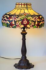 """Tiffany Style Stained Glass Table Lamp - 25""""H x 17""""W"""