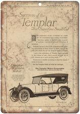 """1919 - Templar Motor Company Vintage Ad 10"""" x 7"""" Retro Metal Sign"""