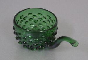 edle Murano Bubble Glas Henkel Schale Snackschale Grün Vintage 60er 70er Jahre