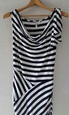 Forever New Black/white Cowl Neck Sleeveless Dress Size 10