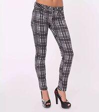 Metal Mulisha Ladies Magnetic Pants Stretch Black White Size 5