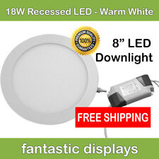 """18W Led Recessed Ceiling Panel Down Lights Lamp Round 8"""" Inch Warm w/ Driver!"""