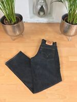 Vintage LEVI'S 511 Stretch Denim Black Jeans Slim Tapered Mens W32 L34 (51)
