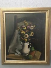 "Gustave Camus (Belgian 1914-1984) Still Life Pitcher with Flowers O/C 19""X 23"""